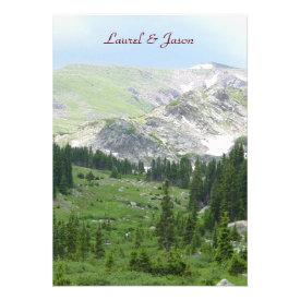 Mountain Wilderness Wedding Invitation Custom Announcement