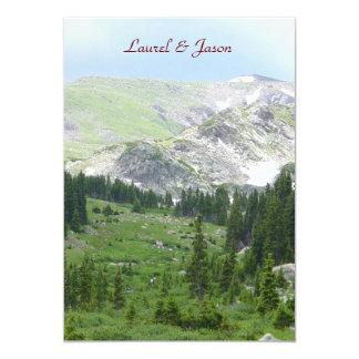 "Mountain Wilderness Wedding Invitation 5"" X 7"" Invitation Card"