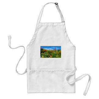 mountain wildflowers adult apron