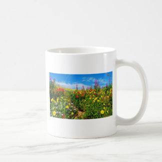 mountain wildflowers classic white coffee mug