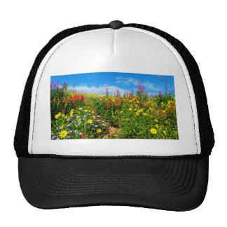 mountain wildflowers trucker hat