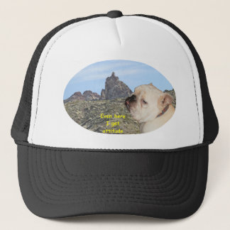 Mountain with attitude trucker hat