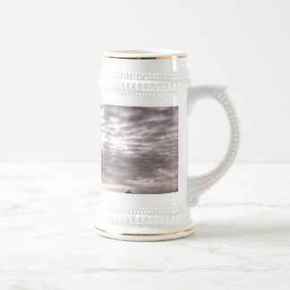 Mountain with cruiseship in the Pole 18 Oz Beer Stein