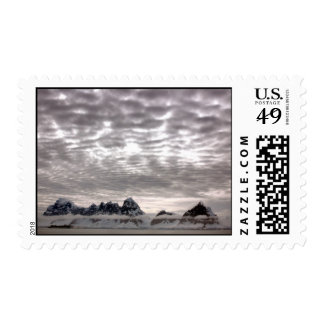 Mountain with cruiseship in the Pole Postage Stamps