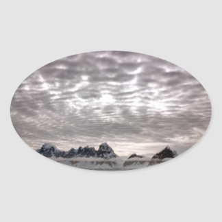 Mountain with cruiseship in the Pole Sticker