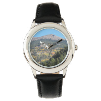 Mountain with Fall Colors Wrist Watch
