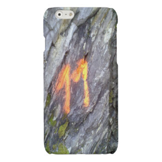 Mountain with number 11 glossy iPhone 6 case