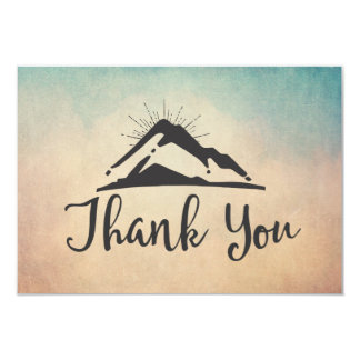 Mountain with Sunrays Thank You Card