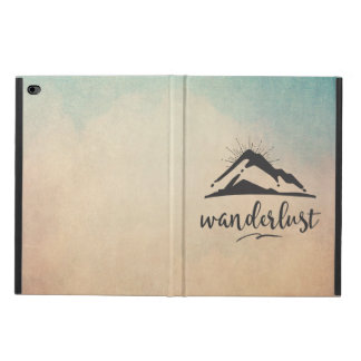 Mountain with Sunrays - Wanderlust Typography Powis iPad Air 2 Case