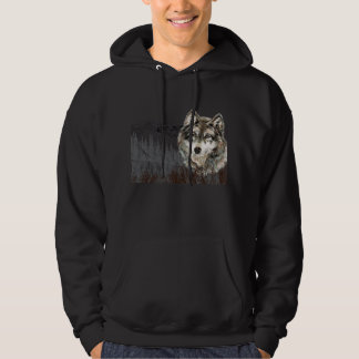 Mountain with Watercolor Wolf Animal wilderness Pullover