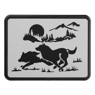 Mountain Wolves Tow Hitch Cover