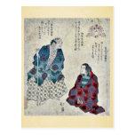 Mountain woman by Totoya, Hokkei Ukiyoe Postcard