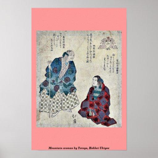 Mountain woman by Totoya, Hokkei Ukiyoe Print