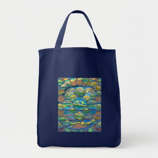 Mountain Worlds Drawings Canvas Bag