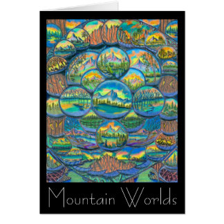 Mountain Worlds Drawings Greeting Card