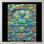 Mountain Worlds Drawings Print