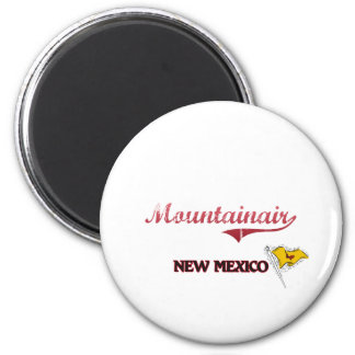 Mountainair New Mexico City Classic 2 Inch Round Magnet