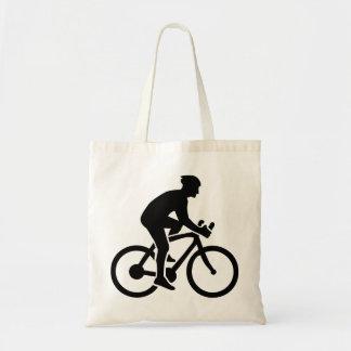 Mountainbike cycling budget tote bag