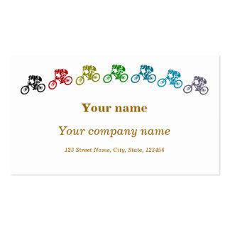 Mountainbikes coloridos tarjeta de negocio