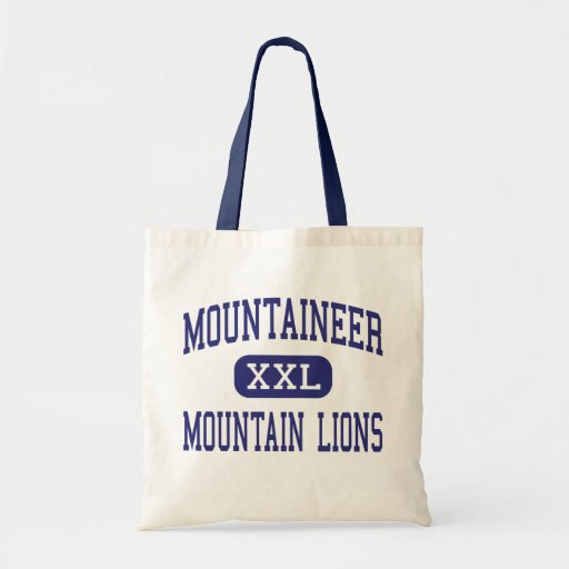 Mountaineer Mountain Lions Middle Clarksburg Canvas Bags