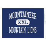 Mountaineer Mountain Lions Middle Clarksburg Greeting Cards