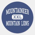 Mountaineer Mountain Lions Middle Clarksburg Round Sticker
