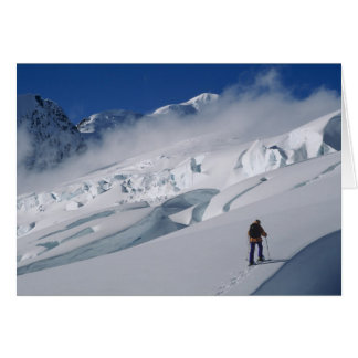Mountaineer on the Tasman Glacier in Mount Greeting Card