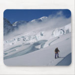 Mountaineer on the Tasman Glacier in Mount Mouse Pad