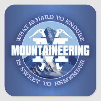 Mountaineering (Endure) Square Sticker