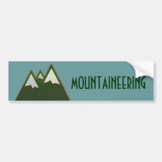 mountaineering, mountain life style car bumper sticker