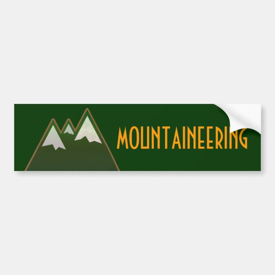 mountaineering, mountain style bumper sticker