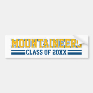 Mountaineers Class Year - Gold Bumper Sticker