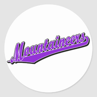 Mountaineers in Purple Classic Round Sticker