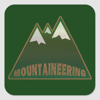 mountaineers, mountain style square sticker