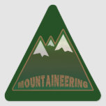 mountaineers, mountain style triangle sticker