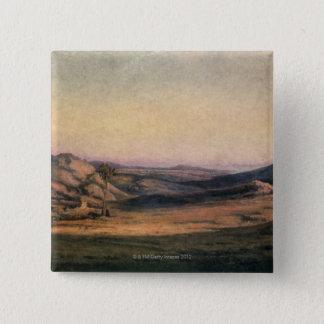 Mountainous Countryside Pinback Button