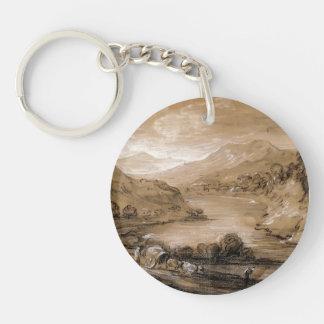 Mountainous Landscape by Thomas Gainsborough Acrylic Key Chains