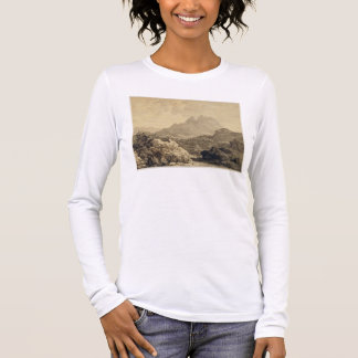 Mountainous Landscape, c.1780 (grey and brown wash Long Sleeve T-Shirt