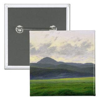 Mountainous landscape pinback button
