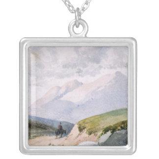 Mountainous Landscape Silver Plated Necklace