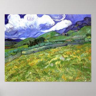 Mountainous Landscape, Van Gogh Fine Art Poster