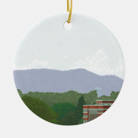 mountainous view ceramic ornament