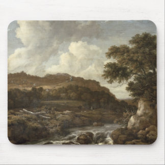 Mountainous Wooded Landscape with a Torrent Mouse Pad