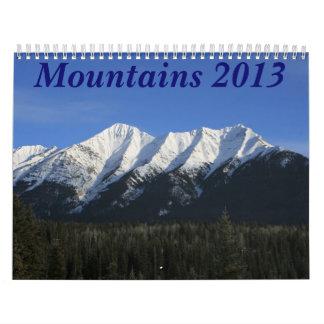 Mountains 2013 calendar