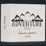 """Mountains Adventure Begins Wedding Photo Album Binder<br><div class=""""desc"""">Rustic Mountains and Pine Trees And so Our Adventure Begins Wedding Photo album - See my shop for the entire collection!</div>"""