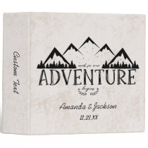 Mountains Adventure Begins Wedding Photo Album Binder