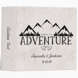Mountains Adventure Begins Wedding Photo Album Binder