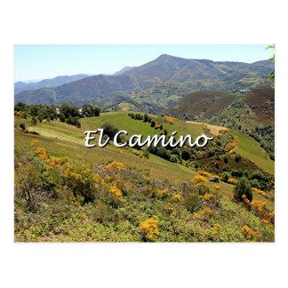 Mountains along El Camino, Spain (caption) Postcard