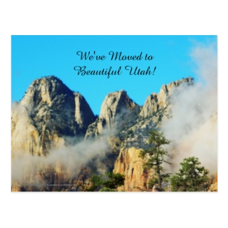 Mountains and Clouds Utah New Address Announcement