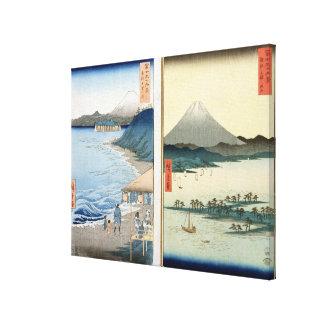 Mountains and coastline canvas print